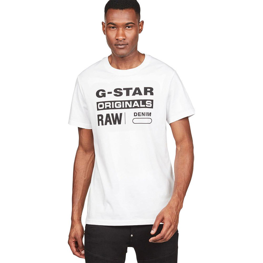 Gstar Graphic 8 Ribbed Neck